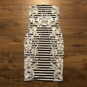 EUC Black/White dress